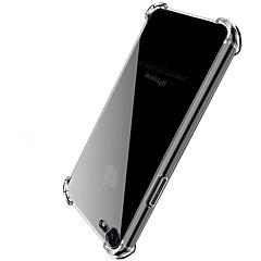 Недорогие Кейсы для iPhone 6-Кейс для Назначение Apple iPhone X iPhone 8 Защита от удара Прозрачный Кейс на заднюю панель Однотонный Твердый Акрил для iPhone X iPhone