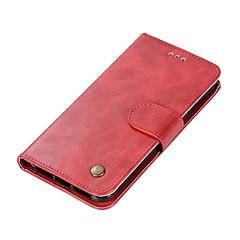 Недорогие Чехлы и кейсы для Xiaomi-Кейс для Назначение Xiaomi Redmi 4X Redmi 4 Бумажник для карт Кошелек Флип Магнитный Чехол Однотонный Твердый Кожа PU для Redmi Note 5A