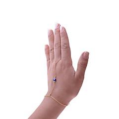 お買い得  ブレスレット-女性用 ボヘミアンスタイル イーブルアイ リングブレスレット  -  ボヘミアンスタイル ファッション イーブルアイ ゴールド ブレスレット 用途 贈り物 プロムドレス