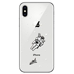 Недорогие Кейсы для iPhone 6 Plus-Кейс для Назначение Apple iPhone X iPhone 8 Прозрачный С узором Кейс на заднюю панель 3D в мультяшном стиле Мягкий ТПУ для iPhone X