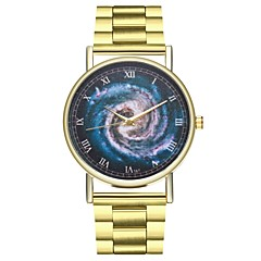 Χαμηλού Κόστους Ατσάλινο μπρασελέ για ρολόγια-Γυναικεία Κινέζικα Χρονογράφος / Δημιουργικό / Μεγάλο καντράν Ανοξείδωτο Ατσάλι Μπάντα Βίντατζ Χρυσό
