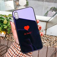 Недорогие Кейсы для iPhone 6-Кейс для Назначение Apple iPhone X iPhone 8 Защита от удара С узором Кейс на заднюю панель С сердцем Твердый Закаленное стекло для iPhone