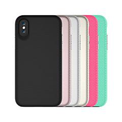 Недорогие Кейсы для iPhone 7 Plus-Кейс для Назначение Apple iPhone X iPhone 8 Защита от удара Кейс на заднюю панель Однотонный броня Твердый ПК для iPhone X iPhone 8 Pluss
