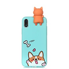 olcso iPhone 6s Plus tokok-Case Kompatibilitás Apple iPhone X iPhone 8 Minta Fekete tok Kutya Puha TPU mert iPhone X iPhone 8 Plus iPhone 8 iPhone 7 Plus iPhone 7
