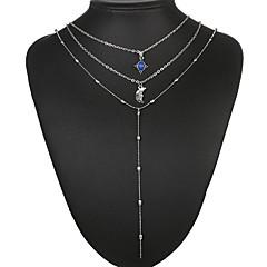 お買い得  ネックレス-女性用 チョーカー ペンダントネックレス レイヤードネックレス  -  ヴィンテージ エスニック 幾何学形 シルバー 40cm ネックレス 用途 パーティー/フォーマル 贈り物 日常