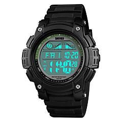 お買い得  メンズ腕時計-SKMEI 男性用 デジタルウォッチ 日本産 アラーム / カレンダー / クロノグラフ付き PU バンド カジュアル / ファッション ブラック