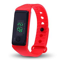 preiswerte Herrenuhren-Herrn Damen digital Digitaluhr Chinesisch Chronograph Tachymeter Armbanduhren für den Alltag LCD Silikon Band Elegant Modisch Schwarz