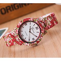 お買い得  レディース腕時計-女性用 リストウォッチ 中国 カジュアルウォッチ Plastic バンド 花型 / ファッション レッド