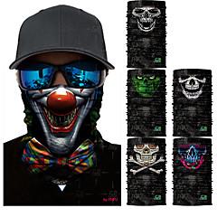 abordables Cagoules et masques-Máscara de protección contra la polución Todas las Temporadas Secado rápido / Resistente a los UV / Antibacteriano Ciclismo de Pista / Senderismo / Ciclismo / Bicicleta Unisex Poliéster Calaveras
