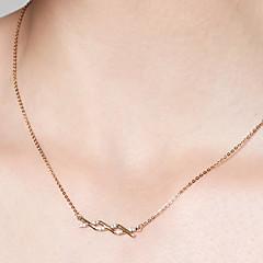 preiswerte Halsketten-Damen Anhängerketten / Ketten - 18K vergoldet, S925 Sterling Silber Zierlich, Einfach Gold 40 cm Modische Halsketten Für Alltag, Verabredung