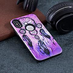 お買い得  iPhone 5S/SE ケース-ケース 用途 Apple iPhone X / iPhone 8 耐衝撃 / エンボス加工 / パターン バックカバー ドリームキャッチャー ハード PC のために iPhone X / iPhone 8 Plus / iPhone 8