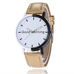 preiswerte Herrenuhren-Herrn Damen Quartz Armband-Uhr Chinesisch Großes Ziffernblatt Armbanduhren für den Alltag PU Band Kreativ Modisch Schwarz Weiß Blau Rot