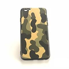 Недорогие Кейсы для iPhone 7 Plus-Кейс для Назначение Apple iPhone X / iPhone 8 Plus Защита от удара / Матовое / С узором Кейс на заднюю панель Камуфляж Твердый ПК для