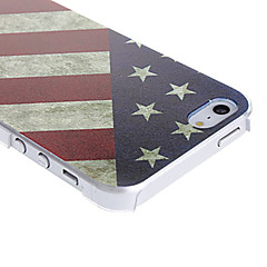 お買い得  iPhone 5S/SE ケース-ケース 用途 iPhone 5 / Apple iPhone 5ケース パターン バックカバー フラッグ ハード PC のために iPhone SE / 5s / iPhone 5