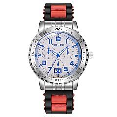 preiswerte Herrenuhren-Herrn Kleideruhr Chinesisch Chronograph / Kreativ / Großes Ziffernblatt Silikon Band Luxus Schwarz / Rot