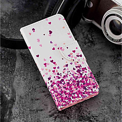 お買い得  Huawei Pシリーズケース/ カバー-ケース 用途 Huawei P20 lite / P20 カードホルダー / ウォレット / スタンド付き フルボディーケース ハート ハード PUレザー のために Huawei P20 lite / Huawei P20