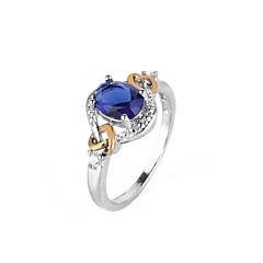 preiswerte Ringe-Synthetischer Diamant Geometrisch Verlobungsring - Kupfer Kugel Urlaub, Europäisch, überdimensional 6 / 7 / 8 Blau Für Party / Geschenk