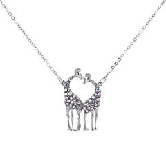 お買い得  ネックレス-女性用 しか ペンダントネックレス  -  メタリック / 多層式 / 欧風 幾何学形 ホワイト 50cm ネックレス 用途 パーティー/フォーマル / 贈り物
