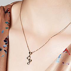 abordables Collares-Mujer Collares con colgantes / Collares de cadena - Chapado en oro 18K, S925 Sterling Silver Bendito Delicado Dorado 40 cm Gargantillas Para Regalo, Diario