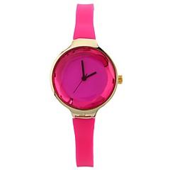 preiswerte Damenuhren-Damen Armbanduhr Chinesisch Kreativ / Armbanduhren für den Alltag / Großes Ziffernblatt Silikon Band Freizeit / Modisch Schwarz / Weiß /