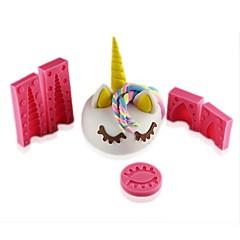 お買い得  ベイキング用品&ガジェット-ベークツール シリコーンゴム / シリコーン / シリコーンゲル 3D / DIY クッキー / チョコレート / 調理器具のための アニマル ケーキ型 5個