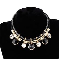 お買い得  ネックレス-女性用 チョーカー  -  ファッション / エスニック 円形 パープル / レッド / ブルー 45cm ネックレス 用途 パーティー / カーニバル