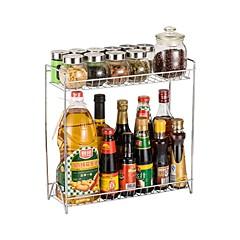 お買い得  キッチン収納-キッチン組織 ラック&ホルダー / 二層 炭素鋼 保存容器 1個
