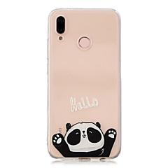 お買い得  Huawei Pシリーズケース/ カバー-ケース 用途 Huawei P20 Pro / P10 Plus クリア / パターン バックカバー パンダ ソフト TPU のために Huawei P20 lite / Huawei P20 Pro / Huawei P20