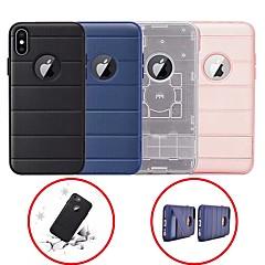 Недорогие Кейсы для iPhone 7-Кейс для Назначение Apple iPhone 6 / iPhone 7 Plus Защита от удара / со стендом Кейс на заднюю панель Однотонный Твердый Силикон для