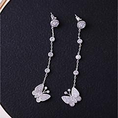 preiswerte Ohrringe-Damen Kubikzirkonia Ohrstecker / Tropfen-Ohrringe - Schmetterling lieblich, Modisch Weiß Für Hochzeit / Geschenk