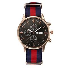 お買い得  メンズ腕時計-女性用 クォーツ 30 m クロノグラフ付き 布 バンド ハンズ エレガント ブラック / 白 / ブルー - ブルー ブラック / ホワイト ブラック / ブルー 1年間 電池寿命 / ステンレス / SSUO LR626
