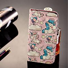 Недорогие Чехлы и кейсы для Sony-Кейс для Назначение Sony Xperia XZ2 / Xperia XZ2 Compact Бумажник для карт / Кошелек / со стендом Чехол единорогом Твердый Кожа PU для