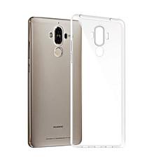 Недорогие Чехлы и кейсы для Huawei Mate-Кейс для Назначение Huawei Mate 9 Прозрачный Кейс на заднюю панель Однотонный Мягкий ТПУ для Mate 9