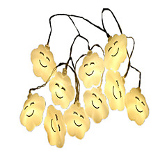 お買い得  LED ストリングライト-1.5m ストリングライト 10 LED 温白色 装飾用 単3乾電池 1個