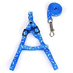 お買い得  犬用首輪/リード/ハーネス-犬用 / 猫用 / ペット用 リード ウォーキング / 調整可能 / 引き込み式 / サイズが調整できます。 カラーブロック / 格子柄 / 蝶結び ファブリック ピンク / 迷彩色 / ライトブルー