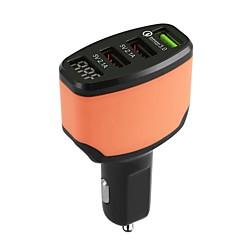 Χαμηλού Κόστους Φορτιστές τηλεφώνου-Φορτιστής Αυτοκινήτου Φορτιστής USB USB Πολλαπλοί έξοδοι / QC 3.0 3 θύρες USB 4.2 A DC 5V iPhone 8 Plus / S9 Plus / S7 edge