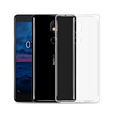 Недорогие Чехлы и кейсы для Nokia-Кейс для Назначение Nokia 8 Sirocco Прозрачный Кейс на заднюю панель Однотонный Мягкий ТПУ для 8 Sirocco