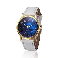 preiswerte Herrenuhren-Damen Quartz Chinesisch Chronograph PU Band Elegant Schwarz / Weiß / Blau / Braun / Gelb