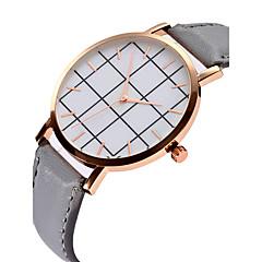 preiswerte Damenuhren-Damen Quartz Armbanduhr Chinesisch Chronograph PU Band Luxus / Armreif Blau / Rot / Grau / Schokolade