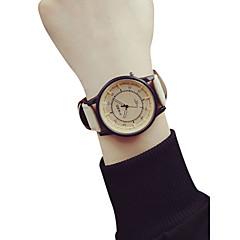 お買い得  メンズ腕時計-女性用 リストウォッチ 中国 クロノグラフ付き / 大きめ文字盤 レザー バンド バングル / ファッション ブルー / グレー / ベージュ / SSUO LR626
