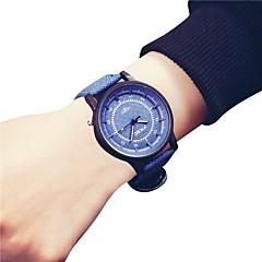 お買い得  レディース腕時計-女性の腕時計中国のクロノグラフ/ラージダイヤルレザーバンドファッション/バングルブルー/グレー/ベージュ