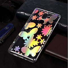 Недорогие Чехлы и кейсы для Nokia-Кейс для Назначение Nokia Nokia 7 Plus / Nokia 6 2018 Покрытие / С узором Кейс на заднюю панель Бабочка Мягкий ТПУ для Nokia 7 Plus / Nokia 6 2018 / Nokia 1