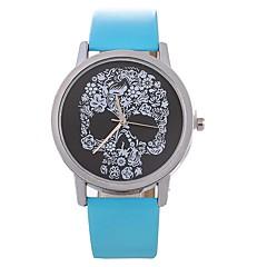 preiswerte Damenuhren-Damen Kleideruhr Chinesisch Chronograph / Armbanduhren für den Alltag PU Band Kreativ / Modisch Schwarz / Weiß / Rot