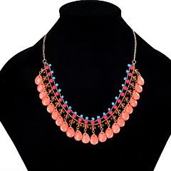 preiswerte Halsketten-Statement Ketten - Harz Tropfen Europäisch Rose Rot, Blau, Rosa 48 cm Modische Halsketten Für Party