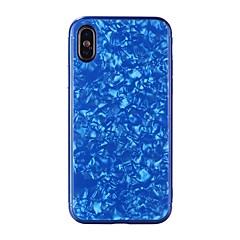 Недорогие Кейсы для iPhone 6 Plus-Кейс для Назначение Apple iPhone X / iPhone 8 Зеркальная поверхность / Рельефный Кейс на заднюю панель Геометрический рисунок Твердый Закаленное стекло для iPhone X / iPhone 8 Pluss / iPhone 8