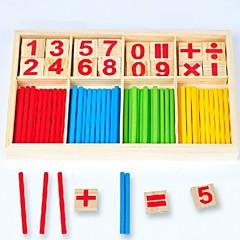 abordables Juguetes de la matemáticas-Wooden Counting Sticks Ábaco Interacción padre-hijo De madera 1pcs Piezas Niños Regalo