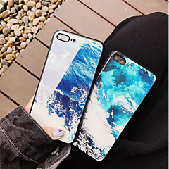 Недорогие Кейсы для iPhone 6 Plus-Кейс для Назначение Apple iPhone X / iPhone 8 С узором Кейс на заднюю панель Пейзаж Твердый Закаленное стекло для iPhone X / iPhone 8