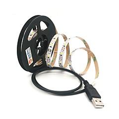 preiswerte LED Lichtstreifen-ZDM® 1m Leuchtgirlanden 300 LEDs SMD 2835 Warmes Weiß / Kühles Weiß Schneidbar / USB / Verbindbar USB angetrieben 1pc / Selbstklebend