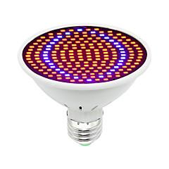 preiswerte LED-Birnen-1pc 30W 1600lm E26 / E27 Wachsende Glühbirne 200 LED-Perlen SMD 5730 Dekorativ Blau Rot 85-265V