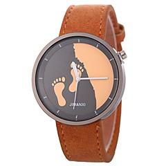 preiswerte Damenuhren-Damen Kleideruhr Chinesisch Chronograph / Armbanduhren für den Alltag PU Band Kreativ / Modisch Schwarz / Rot